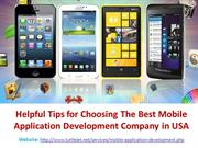 Tips for choosing the best mobile Apps development Company in USA