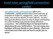hotel near springfield convention center