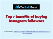 Top 7 benefits of buying Instagram followers