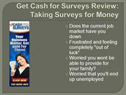 Get Cash for Surveys Review - Honest Review on Get Cash for Surveys