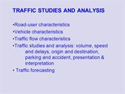 Traffic Engg-II