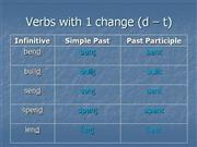 Irregular Verbs with one change