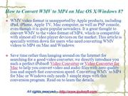 How to Convert WMV to MP4 on Mac OS XWindows 8