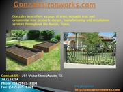 Gonzales IRon Works - Wrought Iron Gates & Fences in Austin, Texas