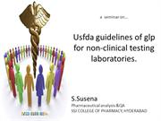 USFDAguidelines of glpfor non-clinical testing laboratories.