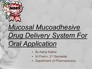Mucosal Mucoadhesive Drug Delivery System