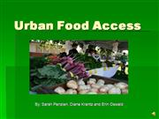 Urban Food Access