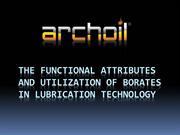 The Functional Attributes and Utilization Of Borates