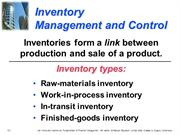 Inventory Management - Arvinder kumar
