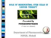 Role of Mesenchymal stem cells in cancer therapy