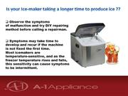 Troubleshoot your Ice maker