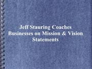 Jeff Stauring Coaches Businesses on Mission & Vision Statements