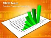 bar charts and graphs green powerpoint templates themes