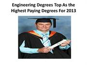 Engineering Degrees Top As the Highest Paying Degrees