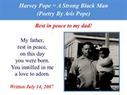 Harvey Pope = A Strong Black Man (Poetry By Avis Pope)
