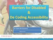 barriers & accessibility