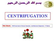 Centrifugation- Dr M M Mir
