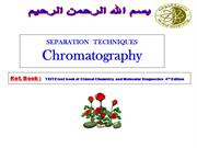Chromatography -  AN  INTRODUCTION