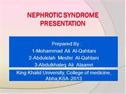 ‫Nephrotic Syndrome presentation