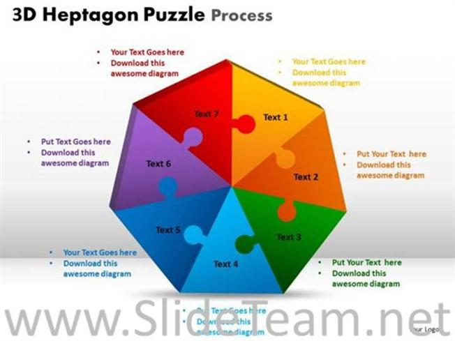 Strategy Hexagon Puzzle PPT Theme-PowerPoint Diagram