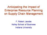 ERP Impact on the Supply Chain
