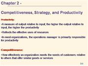 02 Competitiveness, Strategy & Productivity