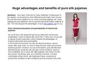 Huge advantages and benefits of pure silk pajamas