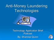 Anti-Money Laundering Technologies
