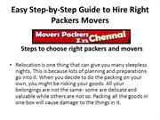 Easy Step-by-Step Guide to Hire Right Packers Movers ppt