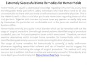 Extremely Successful Home Remedies for Hemorrhoids