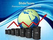 bar graphs pictures oil prices powerpoint templates and themes