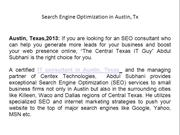 Search Engine Optimization in Austin, Tx