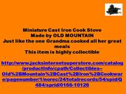 Miniature Cast Iron Cook Stove