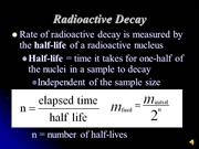 Rate of Decay: Half-Life Calculations
