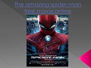 The amazing spider-man free movie online