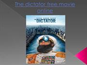 The dictator free movie online