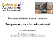 Thurmaston HC transformed, sustained
