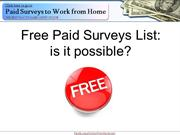 Free Paid Surveys List