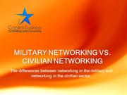 Military Networking vs Civilian Networking