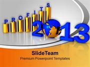 2013_Forth_Coming_Year_Shwing_Profits_In_Business_PowerPoint_Templates