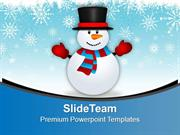 Cute_Snowman_On_Snowy_Background_PowerPoint_Templates_PPT_Themes_and_g