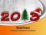 New_Year_2013_And_Christmas_Tree_Holidays_PowerPoint_Templates_PPT_The