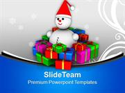Snowman_Sitting_Between_Gifts_Christmas_Eve_PowerPoint_Templates_PPT_T