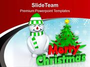Snowman_Wishing_Christmas_And_New_Year_PowerPoint_Templates_PPT_Themes
