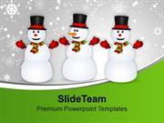 Snowmen_Celebrating_Christmas_And_New_Year_PowerPoint_Templates_PPT_Th