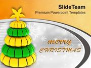 Tree_Giving_Message_Arrival_Of_Christmas_PowerPoint_Templates_PPT_Them