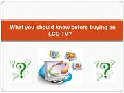 What you should know before buying an LCD TV - TV Repair Centre