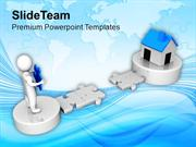 3d_Man_Cross_The_Path_To_Real_Estate_PowerPoint_Templates_PPT_Themes_A
