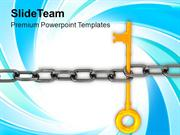 Chain_And_Key_Teamwork_Concept_PowerPoint_Templates_PPT_Themes_And_Gra