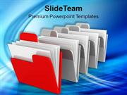 Computer_Folders_Information_PowerPoint_Templates_PPT_Themes_And_Graph